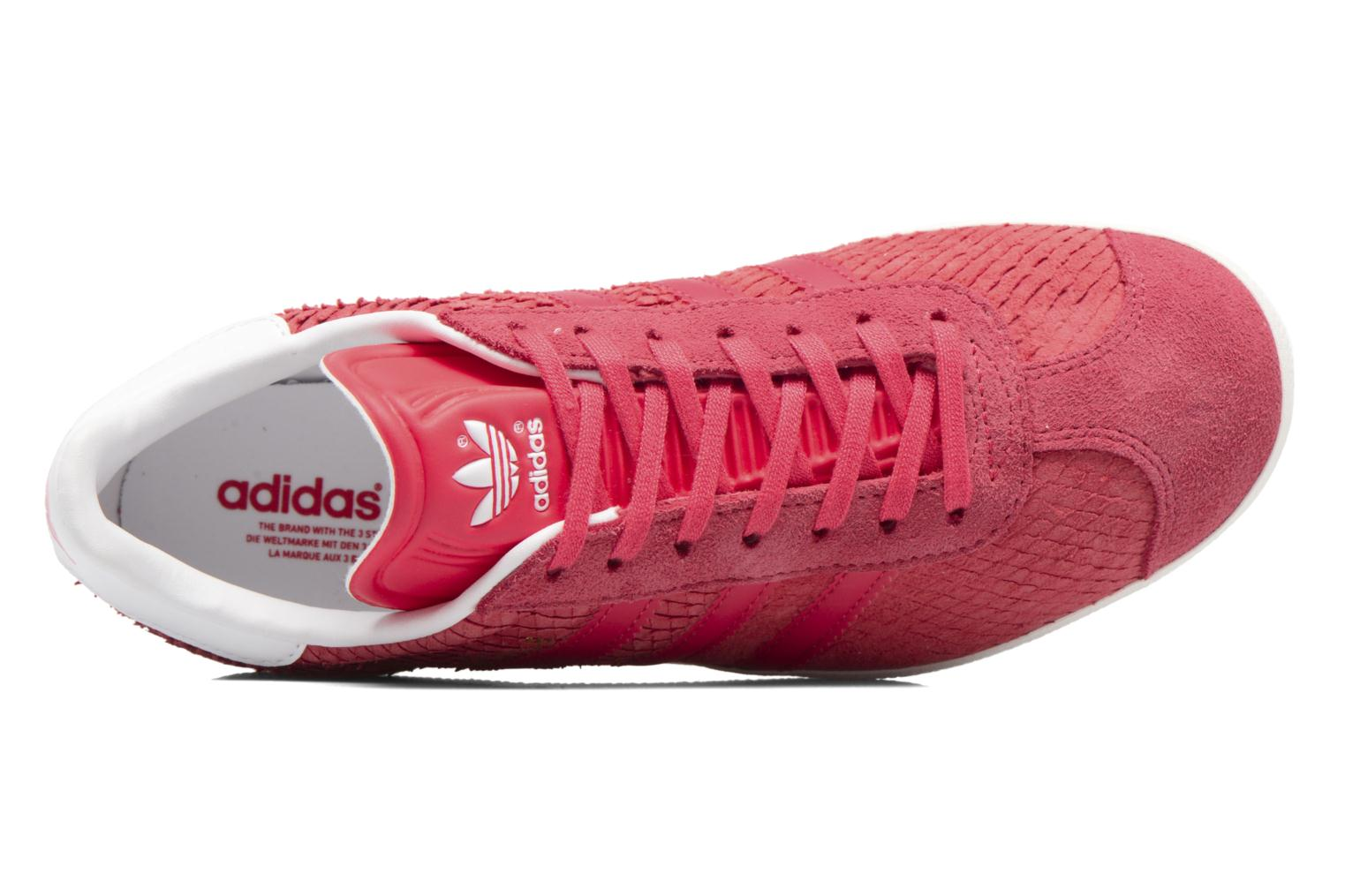 Baskets Adidas Originals Gazelle W Rouge vue gauche